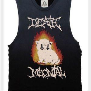 UNIF death meowtal muscle tee