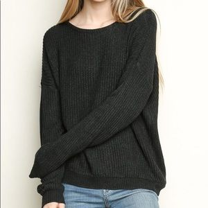 Brandy Melville cozy dark grey wool sweater!