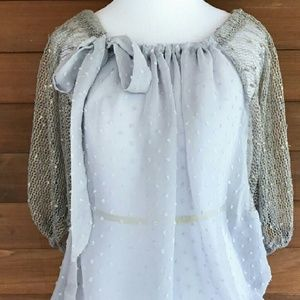 ANTHROPOLOGIE A'REVE BLOUSE. NWT