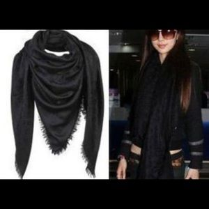 LV black scarf