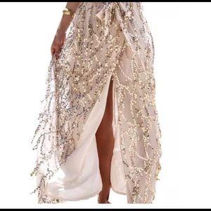 Dresses & Skirts - NWOT Sequin long skirt w/ split