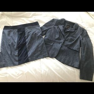 2 Piece navy suit - jacket and skirt size 12