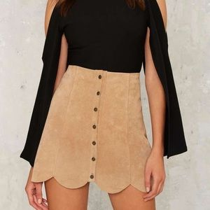 NWT Bagatelle (Nasty Gal) Suede Skirt