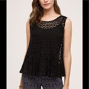 🌺Anthropologie Miri Lace Tank/Vest🌺
