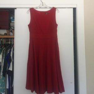 Jcrew candy apple red fit and flare dress
