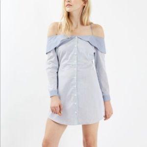 TOPSHOP Bardot Stripe Dress