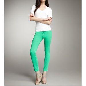 J Brand Green Mid Rise Skinny