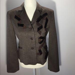 BCBGMaxAzria Brown Wool Blazer