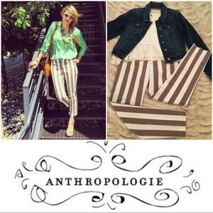 Anthropologie Cartonnier Ruled Charlie Trousers