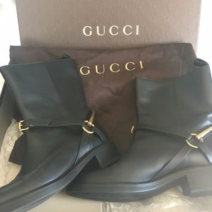 Gucci. Motorcycle Horsebit Boot, Nero EU39
