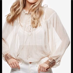 Free People Petal Top Sequence Cuff