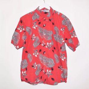 Vintage 90's PT Sportswear Floral Button Up Shirt