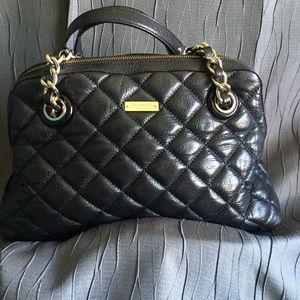 Kate Spade Black Quilted Leather Handbag!