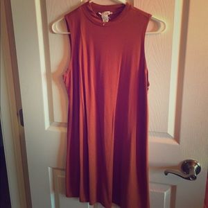 Burnt Orange Forever 21 Dress