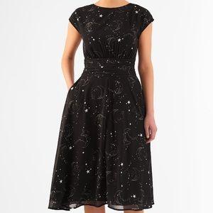 Black Star Print Eshakti Dress
