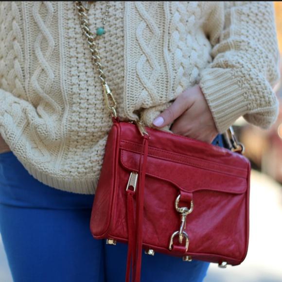 Rebecca Minkoff Handbags - Rebecca Minkoff Red Mini Mac Crossbody or Clutch