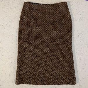 Zara Basic Tweed Pencil Skirt, Size 4