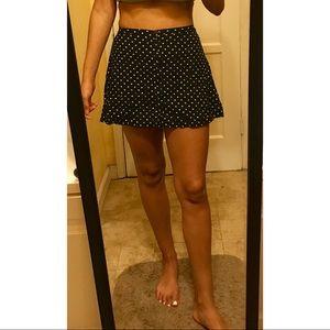 H&M floral hi-waist skirt
