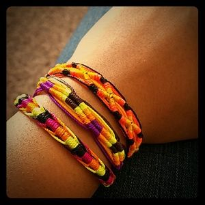 Halloween colored bracelets
