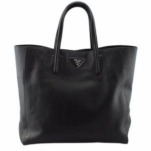 Prada BN2666 Black Saffiano Leather Tote (135079)