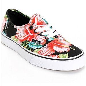 • NIB Hawaiian Floral Print VANS •