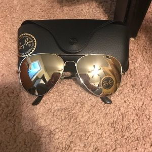 Authentic Rayban — has silver lense