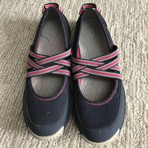 Sperry flat sneakers navy pink