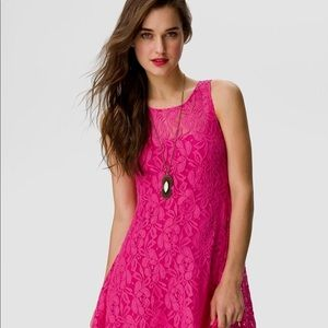 Free People Dresses - Free people miles of lace pink mini dress