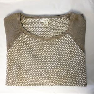 J CREW factory taupe raglan sweater M