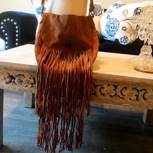 Urban Outfitters Ecoté Suede Fringe Crossbody