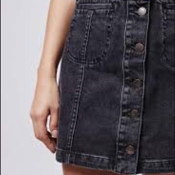 d961f6a0a0 Topshop Skirts   Black Denim Mini Skirt   Poshmark