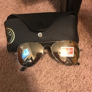 Authentic Rayban - has silver lense