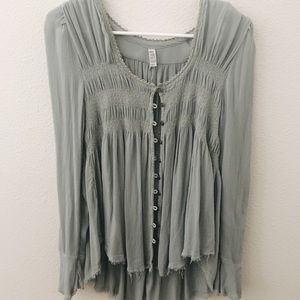 Free people button down blouse!!