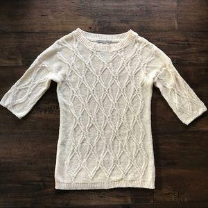 Zara Knit Mixed Weave Sweater