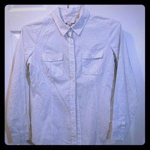 Ann Taylor Loft polka dot blouse
