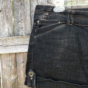 Dark Denim 5'' shorts from WHBM