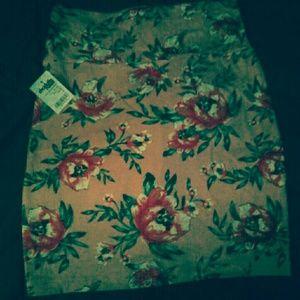 High waist bodycon floral mini
