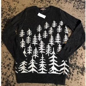 Festive Holiday Pine Trees Sweater