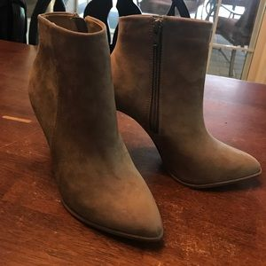 Taupe booties - never worn