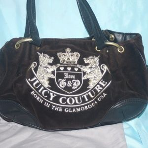 Juicy Couture Baby Fluffy Heritage Crest Black Bag