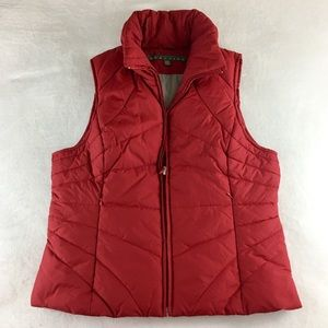 Kenneth Cole Reaction Puffer Vest Jacket - Red