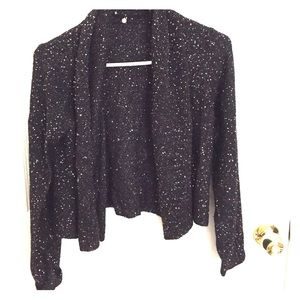 Black Sequin Holiday Cardigan from Anthropologie