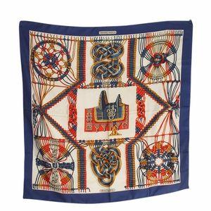 Hermes Macrame Multi-Color Silk Scarf (135482)
