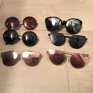 Lot of 6 sunglasses