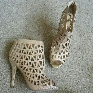 Beautiful Gold Colored Heels/Booties