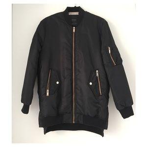 Zara bomber jacket with gold hardware