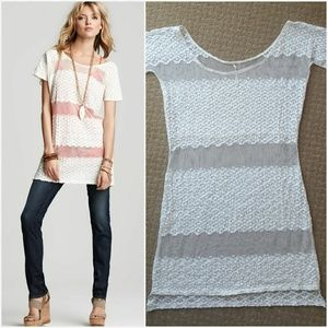 Free People Moonlight Breeze Tunic Sheer White