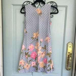 Vintage Polka Dot Sleeveless Dress