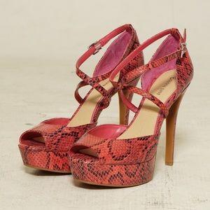 pink snakeskin stilettos
