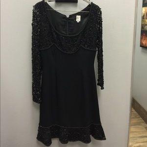 Dresses & Skirts - Black short dress with beaded detail